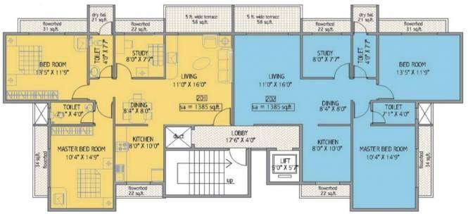 Yash Yash Apartments Cluster Plan