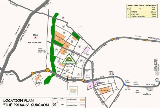 DLF The Primus Location Plan