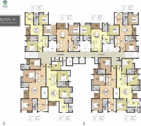 S and S Sarvam Apartments Cluster Plan