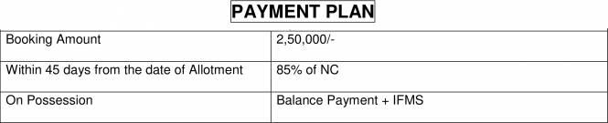 Krish Vatika Payment Plan