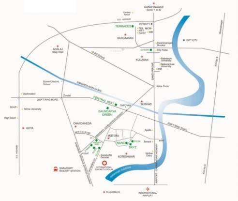 Sangath Skyz Location Plan