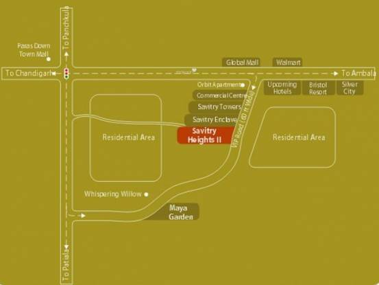 Chandigarh Savitry Heights II Location Plan