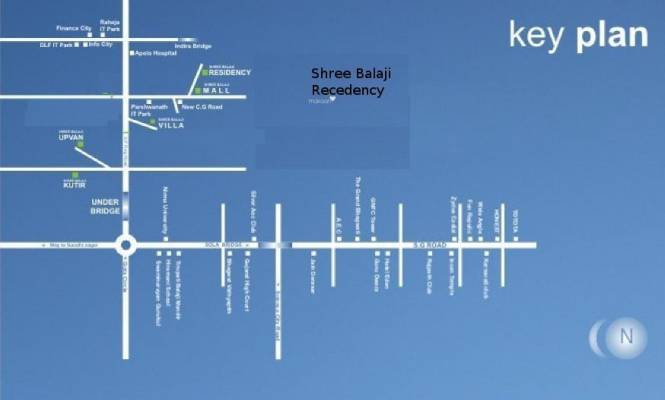 Shree Balaji Agora Residency Location Plan