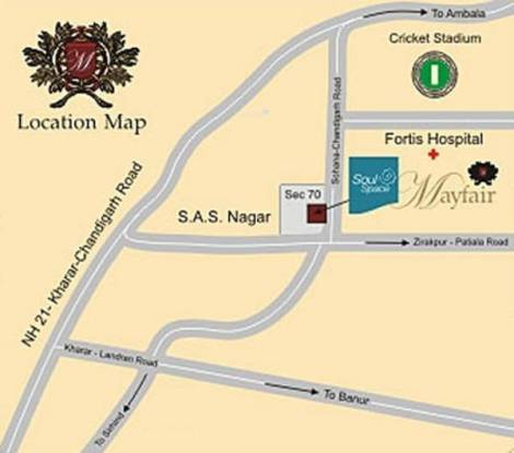 Soul Mayfair Location Plan