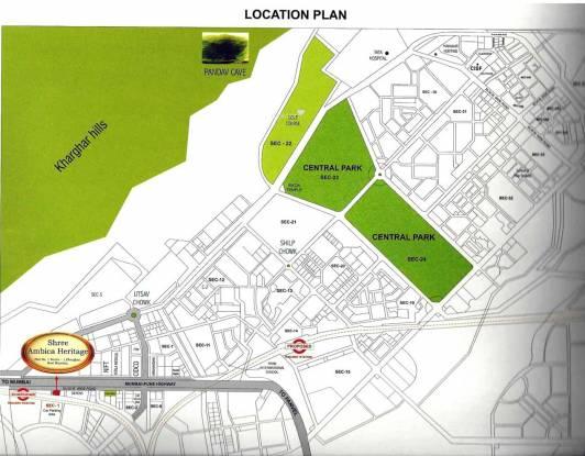 Shree Ambica Heritage Location Plan