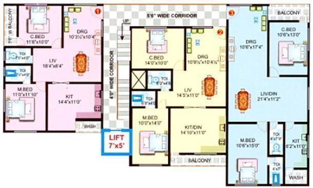 Bhakti Shiva Enclave Cluster Plan