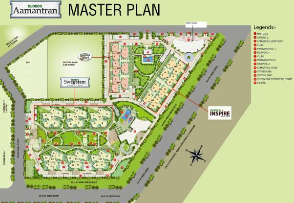 Eldeco Magnolia Park Master Plan