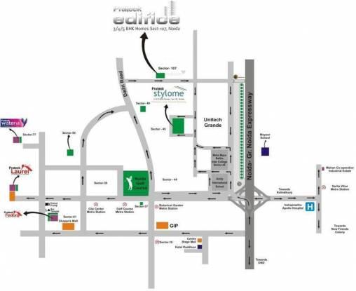 Prateek Edifice Location Plan