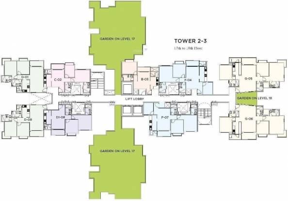 Bhartiya Nikoo Homes Cluster Plan