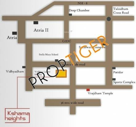Parshva Kshama Heights Location Plan
