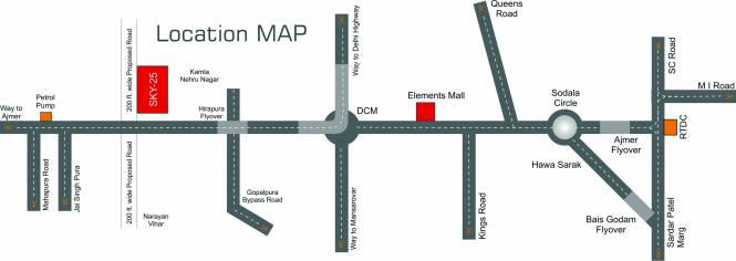 Riddhi Sky 25 Location Plan