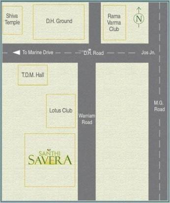 Santhi Savera Location Plan