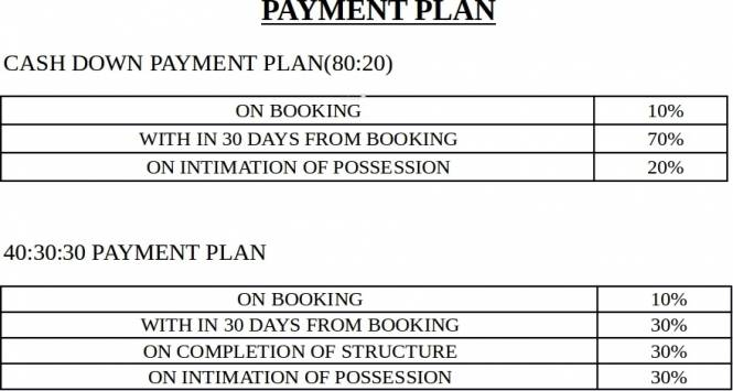 Amrapali Kingswood Payment Plan