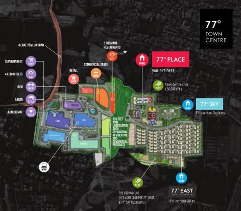 DivyaSree 77 Place Master Plan