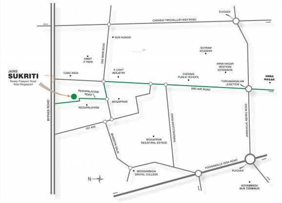 Jain Sukriti Location Plan