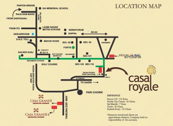 Earthcon Casa Royale Location Plan