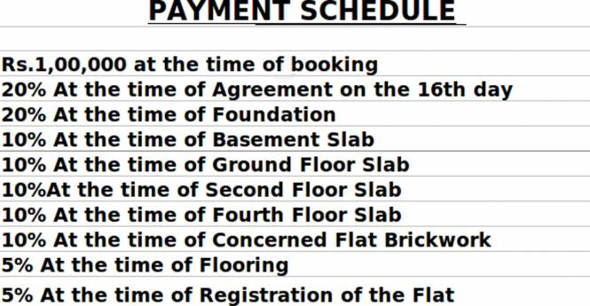Trifecta Esplanade Payment Plan