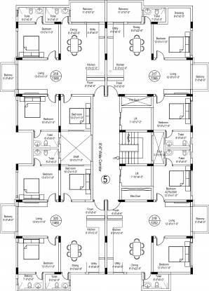 Srinivasa Sai Poorna Luxuria Cluster Plan