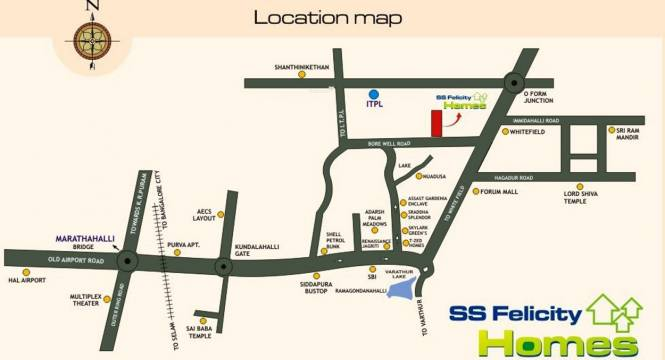 SS Felicity Homes Location Plan