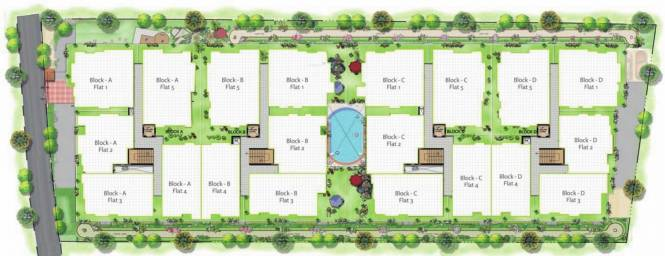 Adithya Serene Site Plan