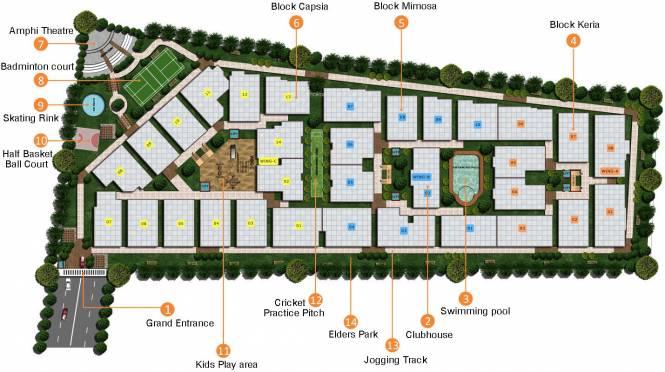 Adithya Pristine Site Plan