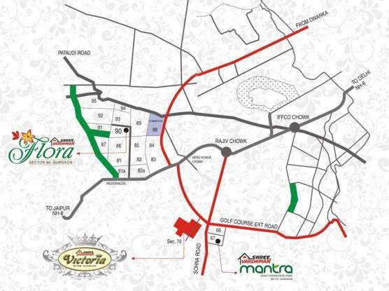 Shree Victoria Location Plan