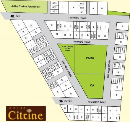 Artha Citrine Layout Plan