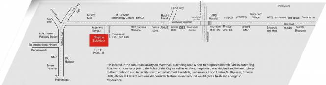 Maithri Shilphitha Splendour Location Plan