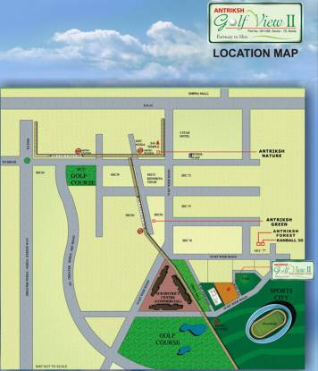 The Antriksh Golf View II Phase I Location Plan
