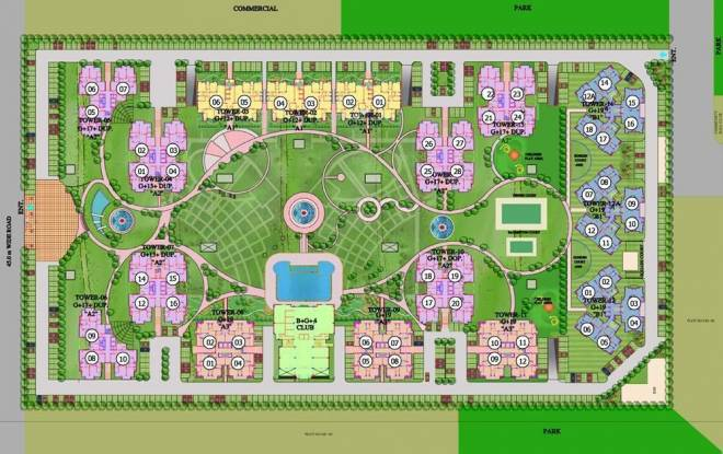 Purvanchal Royal Park Site Plan