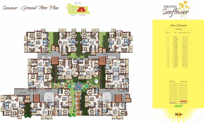 Maithri Shilpitha Sunflower Cluster Plan