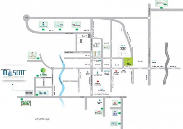 Mahagun Mascot Location Plan