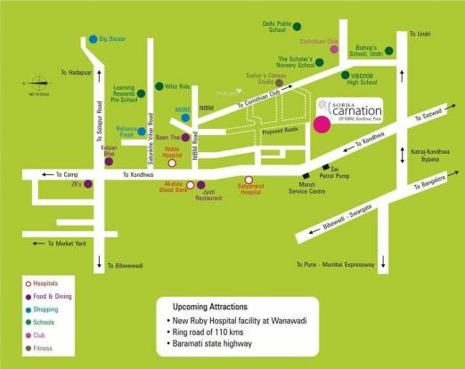 Sobha Carnation Location Plan