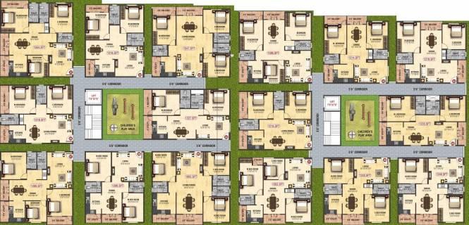 BM BM Homes Cluster Plan