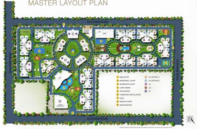 Purvanchal Royal City Layout Plan