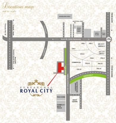 Purvanchal Royal City Location Plan