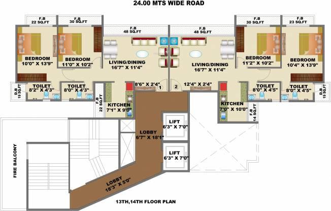 Satyam Empress Cluster Plan