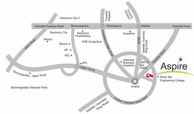 Aashrithaa Aspire Location Plan