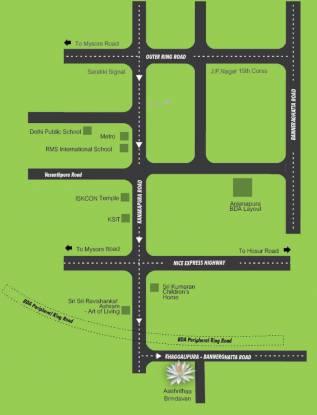 Aashrithaa Brindavan Location Plan