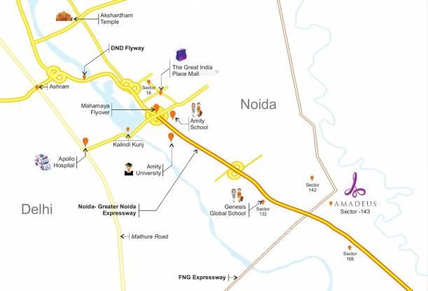 Saha Amadeus Location Plan