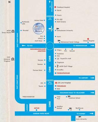 KG Chandra Vista Location Plan