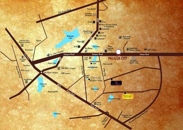 SJR Palazza City Location Plan