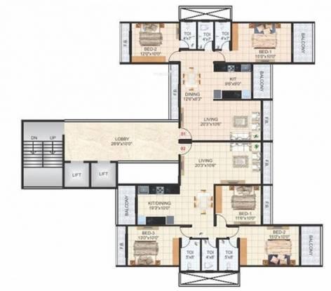 Devkrupa Krishna Tower Cluster Plan