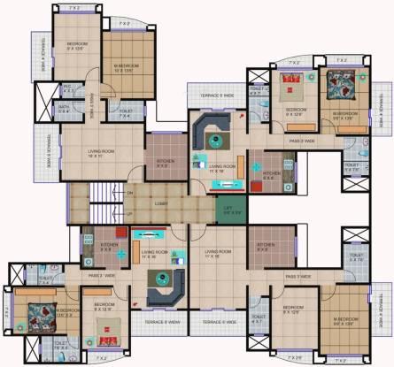Happy Home Sarvodaya Valley Cluster Plan