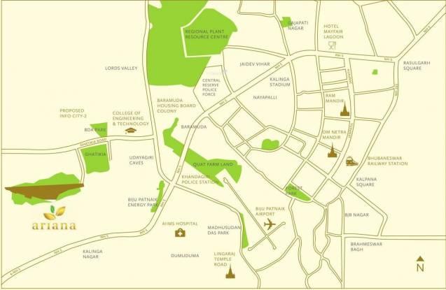TATA Ariana Location Plan