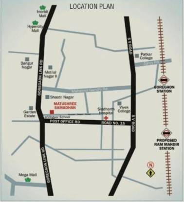 Poddar Samadhan Apartments Location Plan
