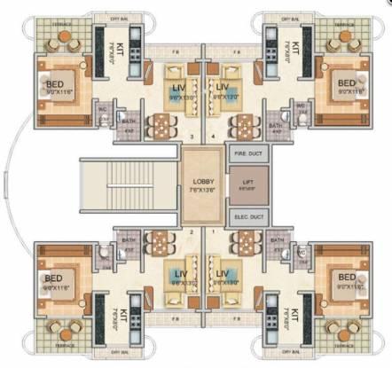 Tharwani Vedant Millenia Cluster Plan
