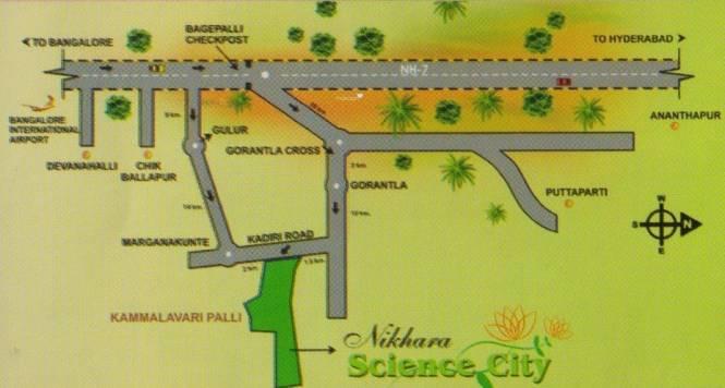 Nikhara Science City Location Plan
