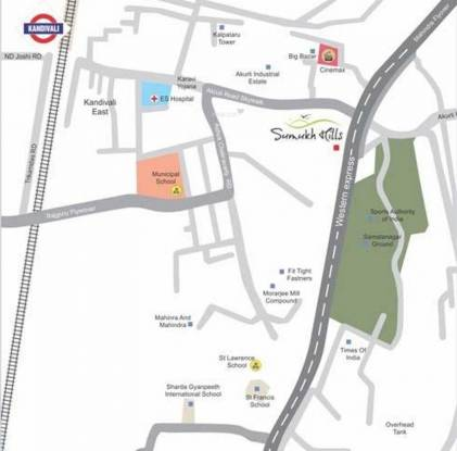 Yogsiddhi Sumukh Hills Location Plan