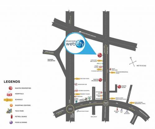 Mantri WebCity Location Plan